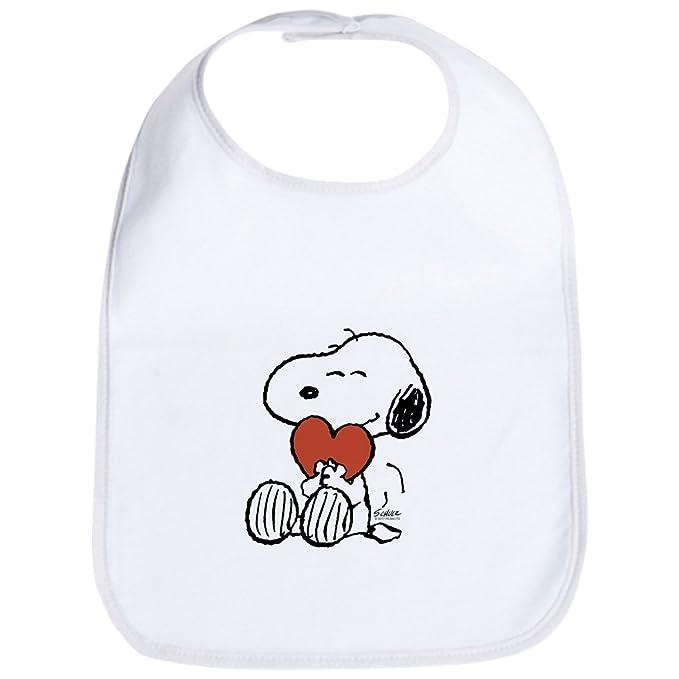 Amazon.com: CafePress – Snoopy en corazón bebé – Babero ...