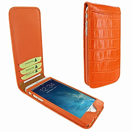 Piel Frama 761 Orange Crocodile Classic Magnetic Leather Case for Apple iPhone 7 / 8 by Piel Frama