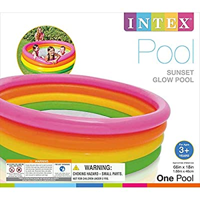 Intex Sunset Glow Inflatable Pool, 66in x 18in: Toys & Games