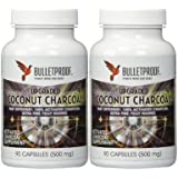 Bulletproof Upgraded Coconut Charcoal Capsules - 90 Ct.(500 mg) (180)