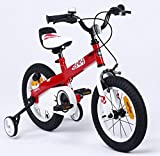Y & Y TOY STORE ON LINE Kids' Button Bike Bicycle, Honey Red-White Rim, BUTTON-14