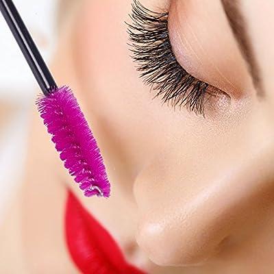 ECBASKET Disposable Mascara Wands Applicators Mascara Brushes Eyelash Eyebrow Brushes