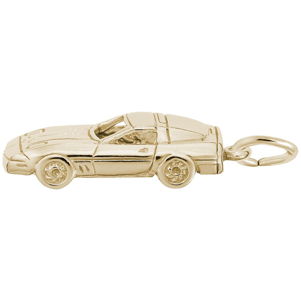 Charms for Bracelets and Necklaces 10k Yellow Gold Sport Car Charm