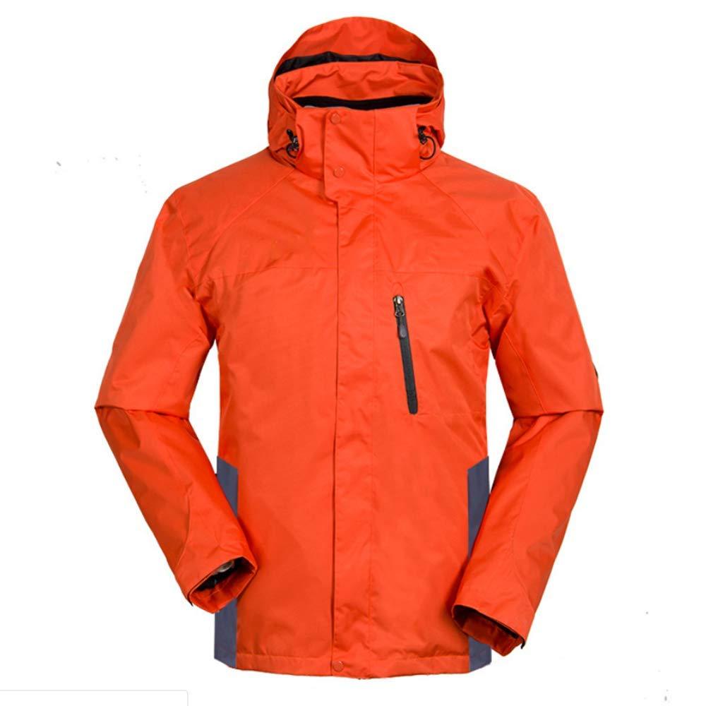 Orange S SCYTSD Manteau Coupe-Vent Imperméable Et Chaud avec des Poches Zippées - Veste De Pluie Légère - pour Temps Humide Et DéplaceHommests