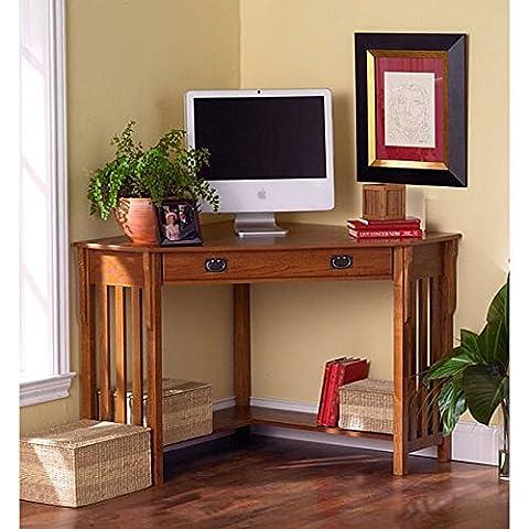 Harper Blvd Mission-style Corner Desk - Mission Style Corner
