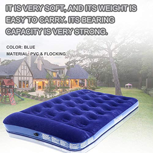 Ensteinberge Single Person Air Moistureproof Camping Mats Inflatable Air Bed Outdoor Picnic Beach Mattress Sleeping Mats with Air Pump