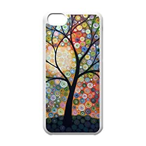 Custom Colorful Case for Iphone 5C, Abstract Painting Cover Case - HL-R640453