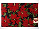 Holiday Poinsettia Printed Accent Rug By St. Nicholas Square – 20″ x 30″ For Sale