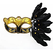 Rehot Masquerade Mask for Women Feather Costume Prom Ball Mardi Gras Halloween Christmas Party Masks