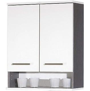 Pharao24 Bad Hängeschrank In Grau 60 Cm Breit Amazonde Küche