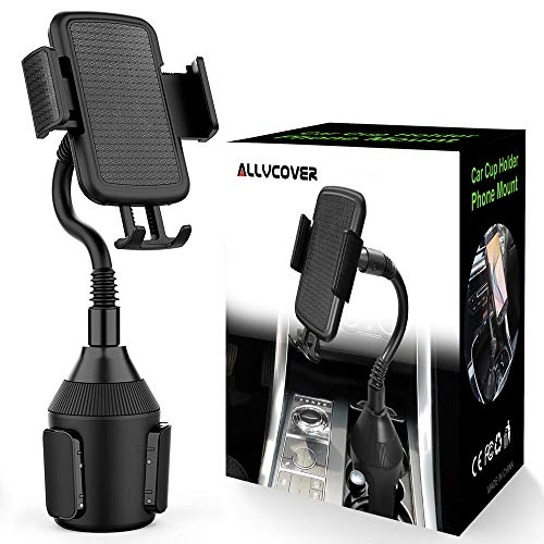 ALLVCOVER Car Phone Mount,Adjustable Gooseneck Cup Car Phone Holder Compatible with iPhone Xs/XS MAX/XR/X/8/8Plus/7/7Plus,Galaxy S7/S8/S9/S10/S10e,Google Nexus,Huawei and More,B168