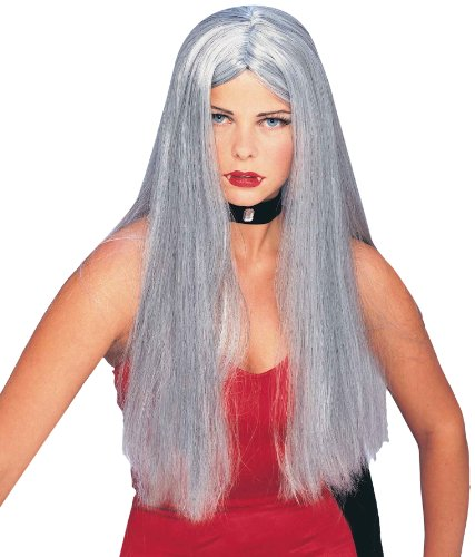 (Forum Novelties Women's Gothic Glamour Long Costume Wig, Gray, One Size)