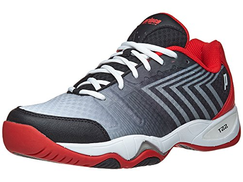 Prince T22 Lite Bk/Wh/Rd Men's Shoe (Prince Mens Tennis Shoes)