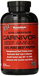 Musclemeds Carnivor Beef Aminos Tablets, 300 Count