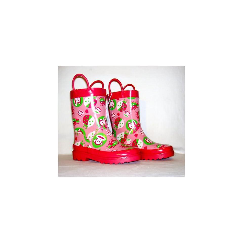 Toddler Girls Pink Rain Boots Size Medium (L 11/12)