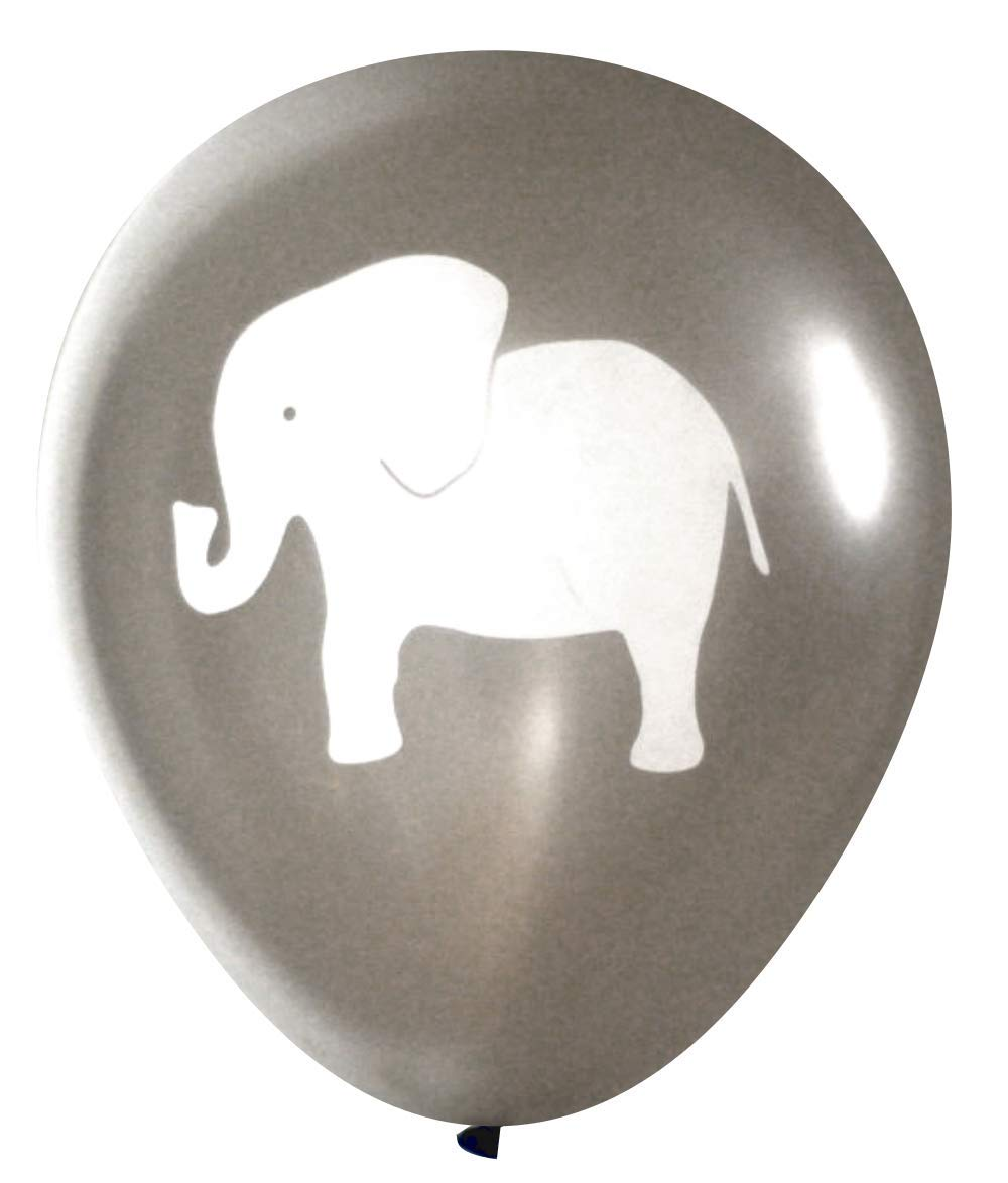Elephant Balloons (16 pcs) by Nerdy Words (Grey) by Nerdy Words (Image #1)