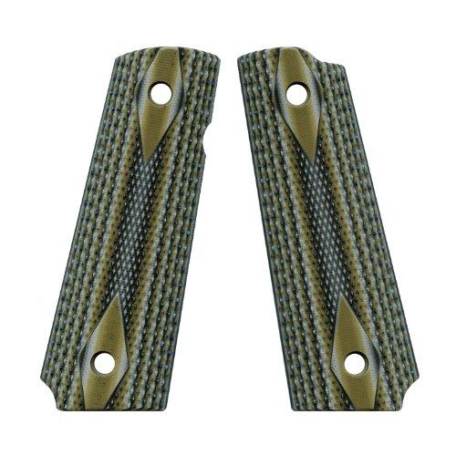 VZ Grips Double Diamond Full Size 1911 Gun Grip, Predator Green