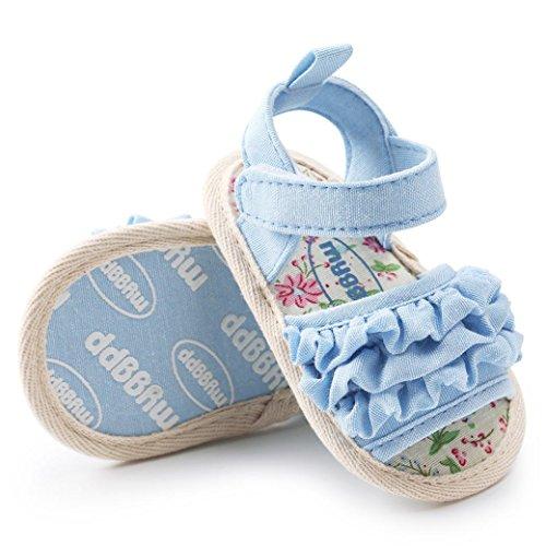 Huhu833 Baby Schuhe, Baby Flower Sandalen Schuh Freizeitschuhe Sneaker Anti-Rutsch-Weiche Sohle Kleinkind Schuhe Blau