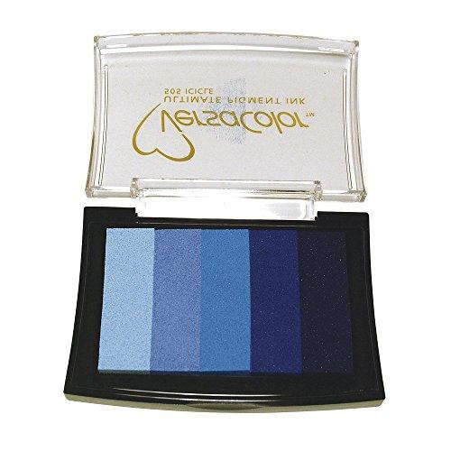 RAYHER 2839709, Stempelkissen Versacolor, 5 Farben, Stempelfläche 4,7 x 7,5 cm, blau Töne