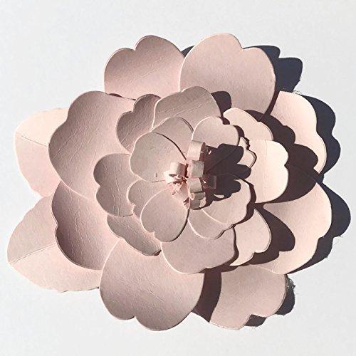 Large Pink Gardenia Die Cut Flowers