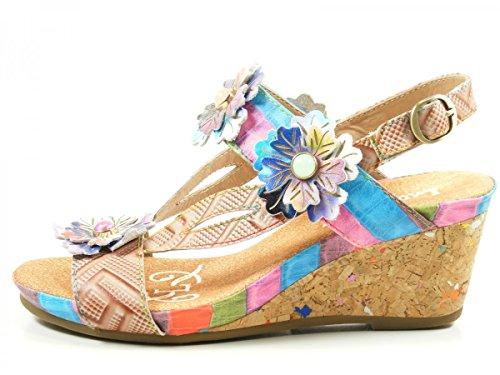 Laura Vita SL140356-10A Benoit 10 Sandalias fashion de cuero mujer Beige