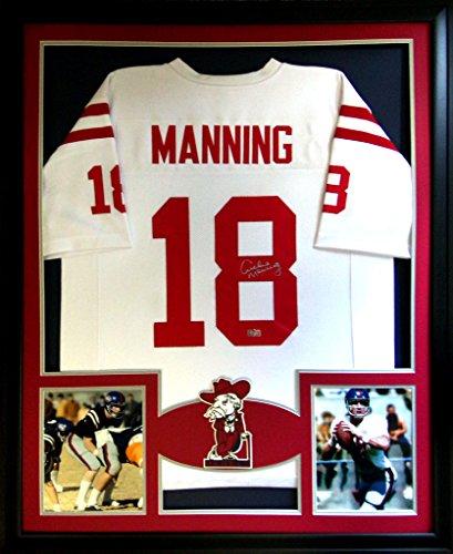 archie-manning-framed-jersey-signed-radtke-coa-autographed-ole-miss-saints