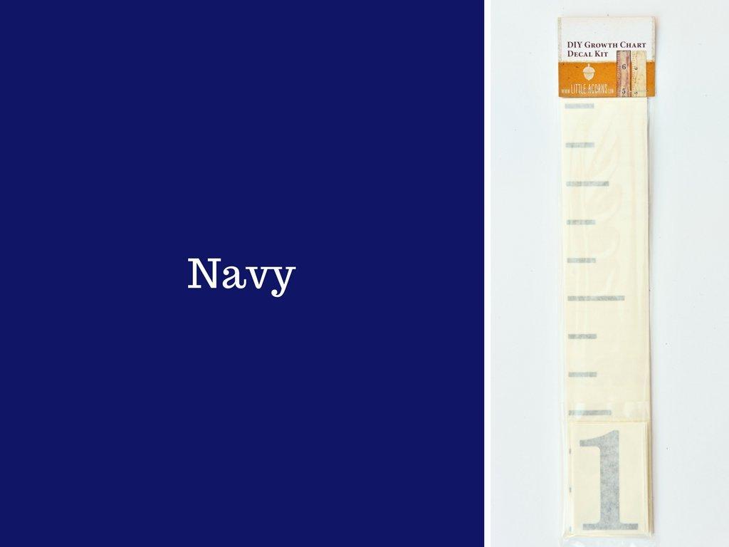 DIY Vinyl Growth Chart Ruler Decal Kit, Large #s - Navy