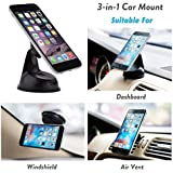 Encust Universal 3 in 1 Dashboard/Windshield/Air Vent...