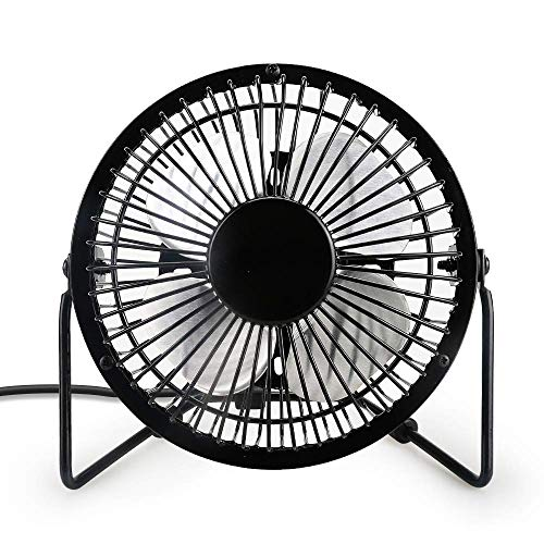 WIOR USB Desk Fan Personal Cooling Fan 360 Rotating Free Adjustment Protable Fan Table Fan Powerful Quiet Fan