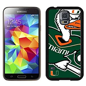 Unique And Lovely Designed Case For Samsung Galaxy S5 I9600 G900a G900v G900p G900t G900w With Ncaa Atlantic Coast Conference Acc Footballl Miami (fl) Hurricanes 3 Black Phone Case