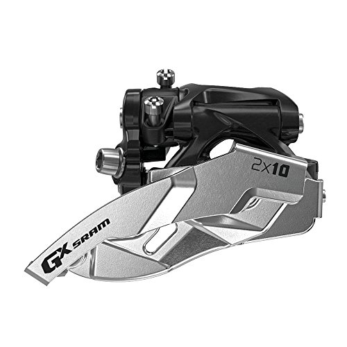 SRAM GX Bicycle Front Derailleur with 2 x 10 Low-Clamp 38/36 (Low Clamp Dual Pull)