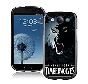 Fashionable Antiskid Cover Case For Samsung Galaxy S3 I9300 With Minnesota Timberwolves 5 Black Phone Case