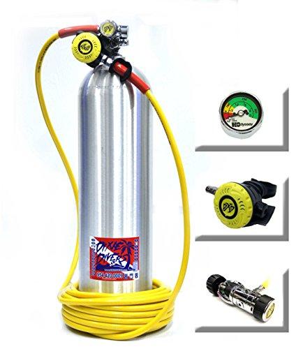 Kayak Diver Regulator Kit 50 Foot Hose DXD Reg Gauge and First Stage Hookah hookahs long hose clean boat bottom dive ()