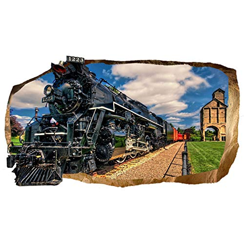 Mural Wall Art 3D Luxury Train Large Poster for Teens Bedroom 32
