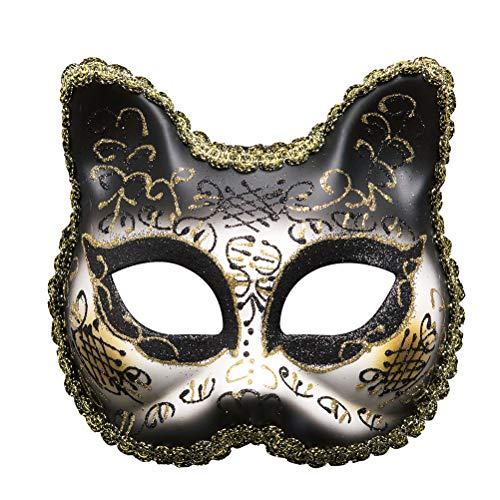 Rosa In Mask Maschera Di Palle In Halloween Maschera Maschera Della Cat Compleanno Mascherina Face Di Pizzo Zhhyltt Ragazze Partito Scintillio Festa Venezia 1YxqH