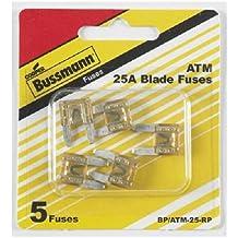 Bussman BP/ATM-25 RP 25 Amp Mini Fuses 5 Count