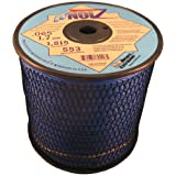 LoNoiz .065-Inch 3-Pound Spool Commercial Grade Spiral Twist Quiet Grass Trimmer Line, Blue LN065MSP-2