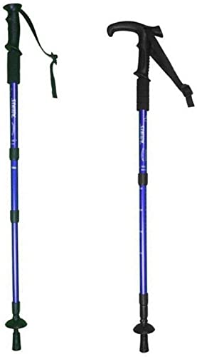 Hillman Pair Trekking Poles, Hiking Walking Sticks, Durable, Lightweight, Folding, Collapsible Telescoping, with EVA Foam Handle.Perfect for Hiking, Walking, Backpacking and Snowshoeing Blue