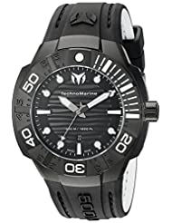 Technomarine Men's TM-513003 Black Reef Analog Display Swiss Quartz Black Watch by TechnoMarine