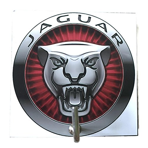Agility Bathroom Wall Hanger Hat Bag Key Adhesive Wood Hook Vintage Jaguar Logo's Photo (Set Xj Jaguar Type)