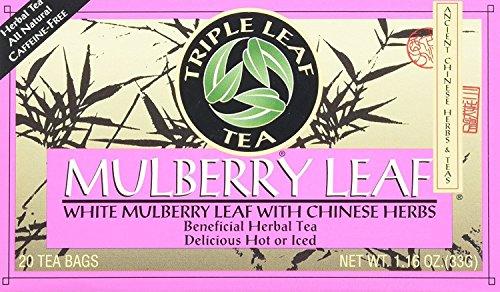 Triple Leaf Tea Bags, Mulberry Leaf, 20 Count ()
