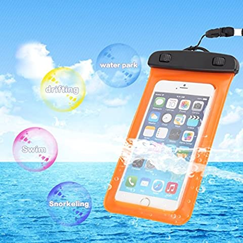 Universal Waterproof Armband Snowproof Case Dry Bag Fit iPhone 6s 6 Plus 5S Galaxy S6 Edge Note 4 HTC One LG V10 Nexus 6p ipod Touch MOTO 5.5-Inch Diagonal IPX6 Certified to 6.6 Feet (Waterproof Ipod 4 Case Yellow)