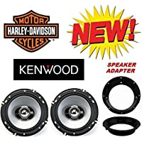 96-2013 Kenwood Harley Touring Speaker Package with Adapter Rings