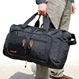 SKYPAK (02) 53CM ONBOARD SIZE FOLDING TRAVEL BAG IN BLACK