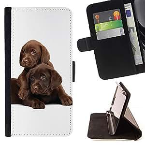 Momo Phone Case / Flip Funda de Cuero Case Cover - Los cachorros labrador retriever del chocolate; - HTC One A9