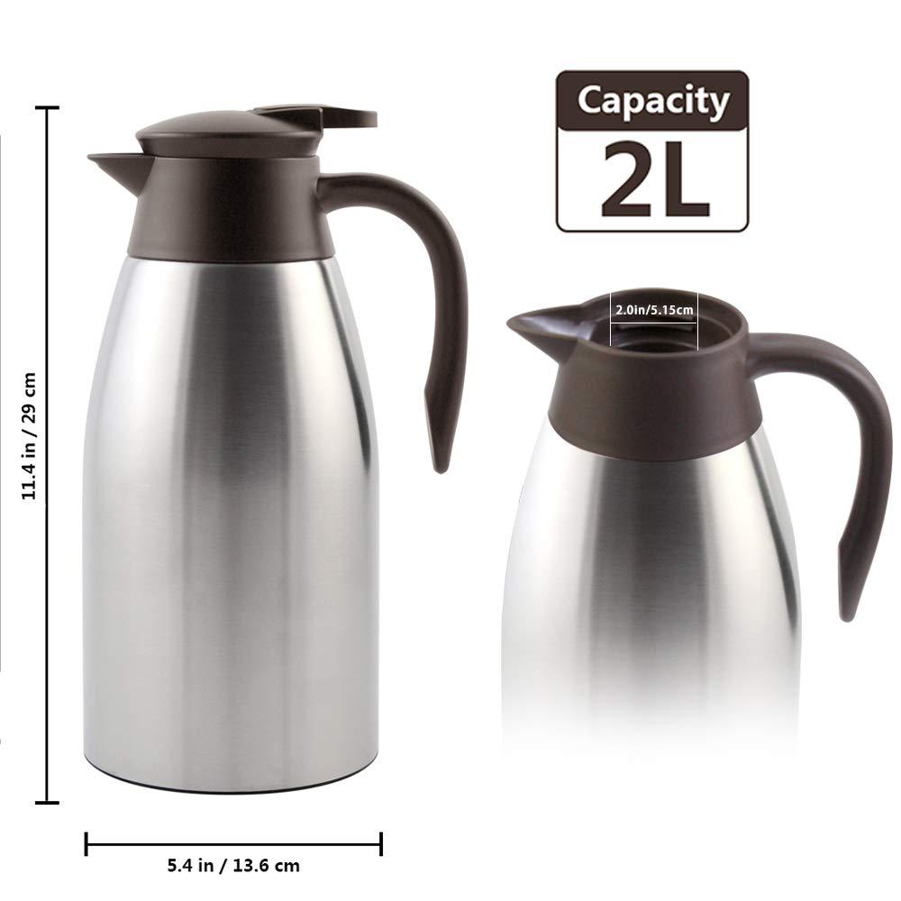 Essentiels 1L /Jarra T/érmica Termo de Acero Inoxidable de Pared Doble Cafetera Para Caf/é y T/é UMI