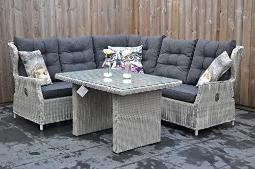 Muebles de Jardín para Dich Valencia ajustable rinconera Light Kobo Grey: Amazon.es: Jardín