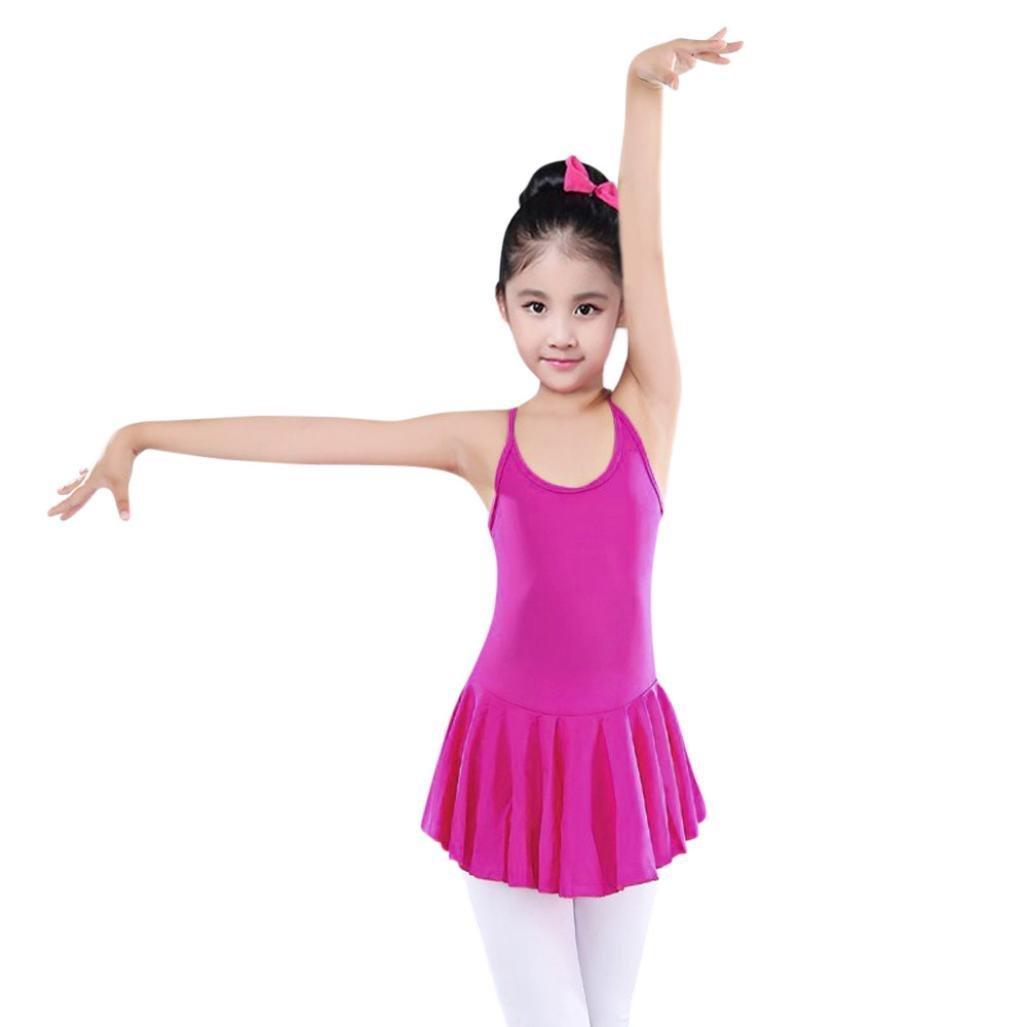 Oyedens Ragazza Leotard Vestito Tutu Balletto Di Tulle Sottoveste Dancewear Body Ginnastica Abbigliamento 3-7 Anni Danza Bambino La Ragazza Body Balletto Tuta Vestito Abiti
