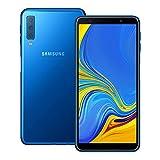 Samsung Galaxy A7 (2018) (SM-A750GN/DS) 128GB Blue, Dual SIM, 6.0-inches, 4GB RAM, GSM Unlocked International Model, No Warranty