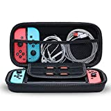 Snowpink Switch Carrying Case Compatible with Nintendo Switch, With 8 Game Cartridges Protective Hard Portable Travel Carry Case Shell Pouch Compatible Nintendo Switch Console & Accessories, Black